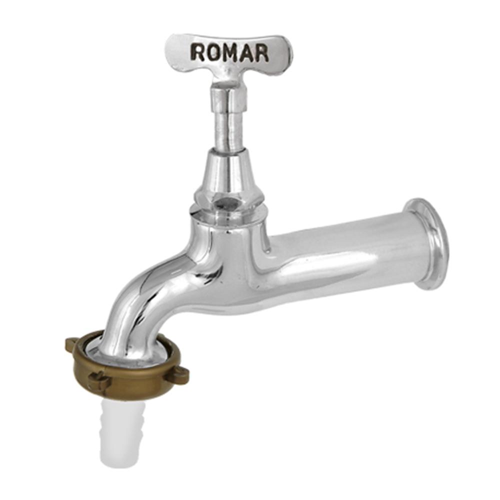 Torneira Romar Tanque/Jardim Chaveta Longa 1130021 Cromado