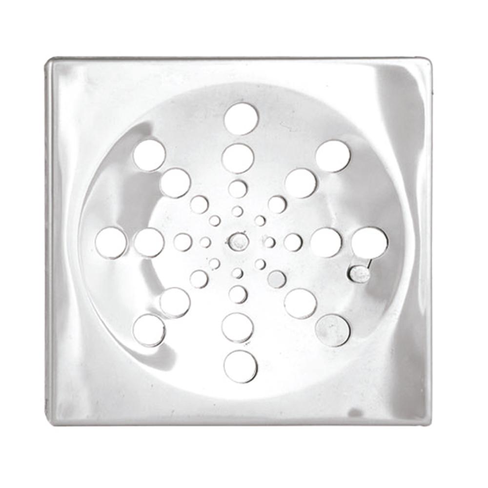 Ralo Romar Quadrado Inox c/ Fecho 15cm 1660115 Cinza