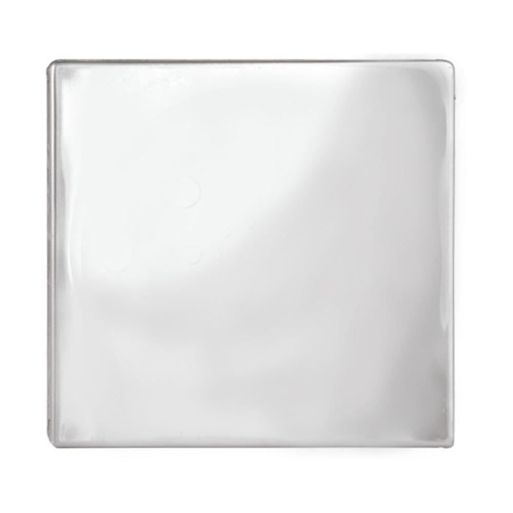 Ralo Cego Romar Quadrado Inox 10cm 1661110 Cinza