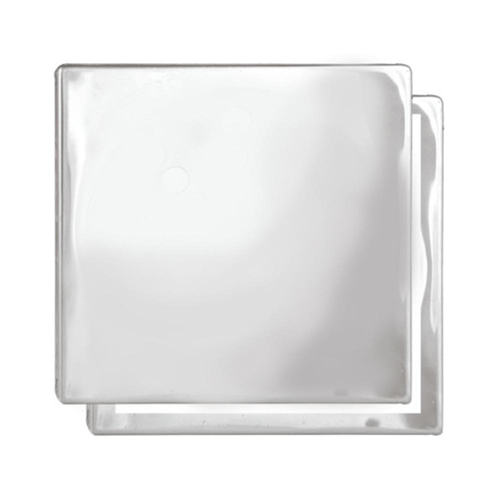 Ralo Cego Romar Quadrado Inox c/ Suporte 10cm 1661310 Cinza
