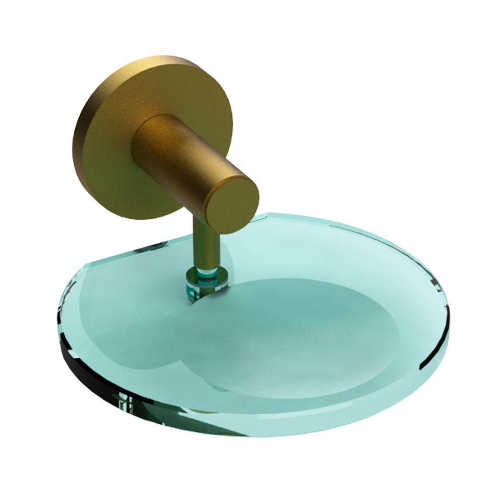 Saboneteira c/ Vidro Romar Bello Ouro 1805655 Ouro Fosco