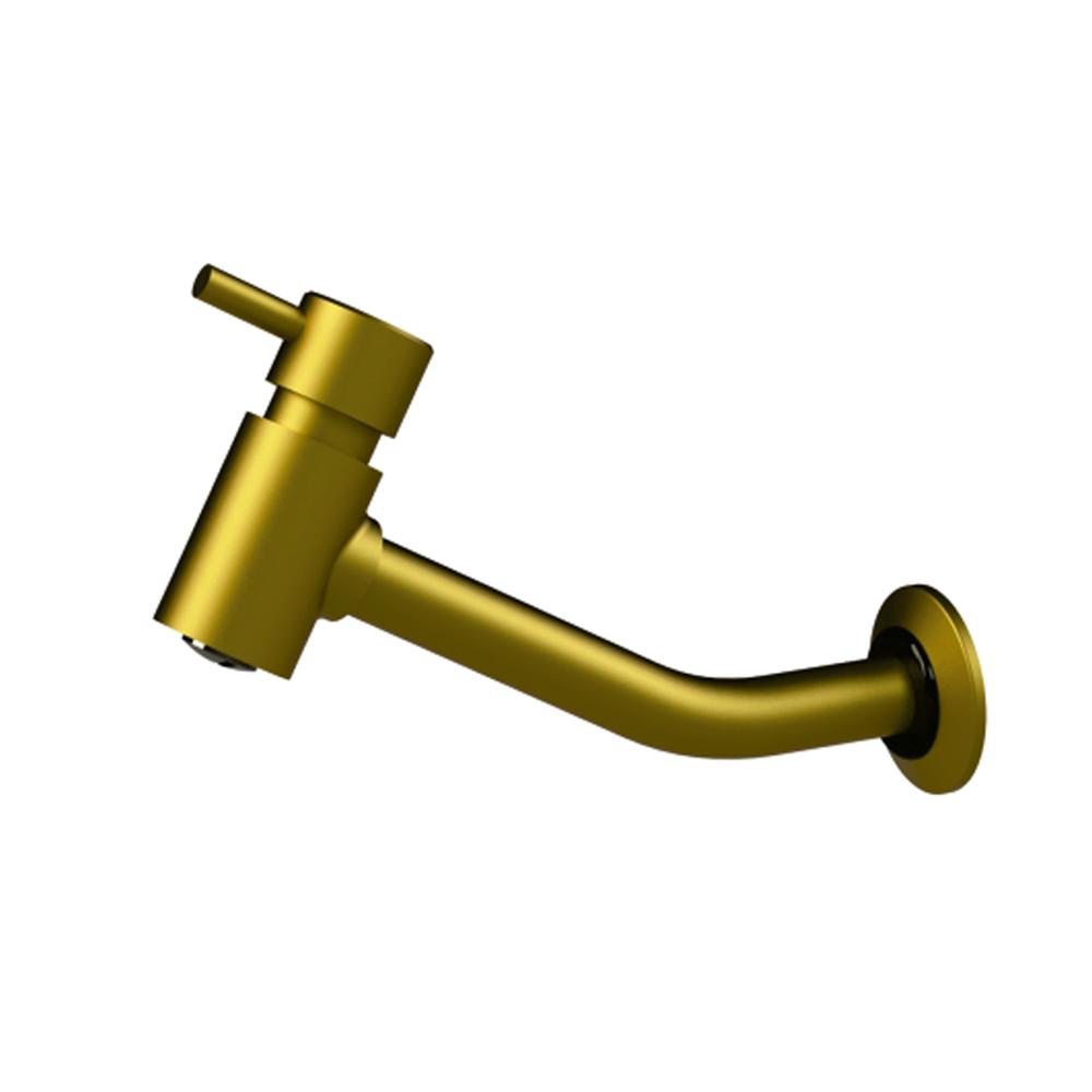 Torneira Romar Lavatório Parede Longa Bello Ouro 5178555 Ouro Fosco